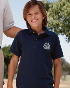 Youth Jerzees Golf Polo Shirts, Embroidered With Your Logo!