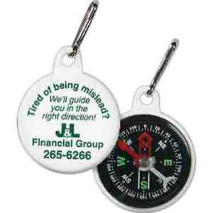 Custom Printed Zipper Pull Compasses