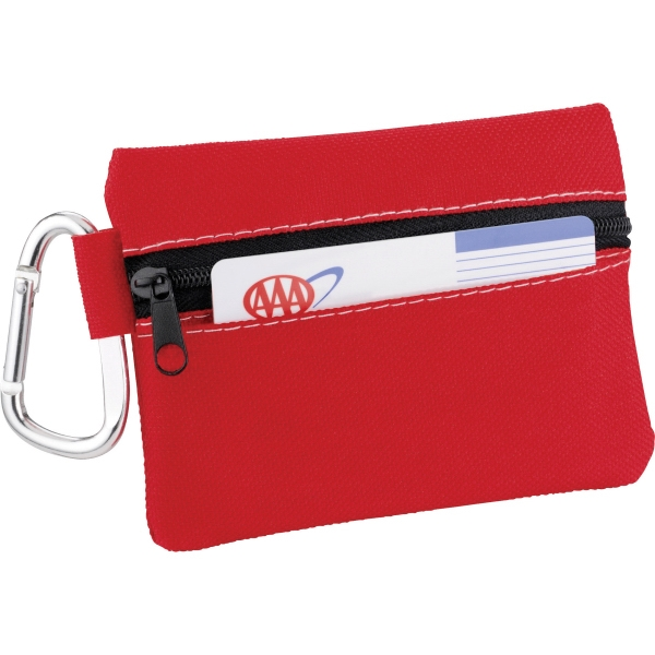 1 Day Service Small Zippered First Aid Pouches, Custom Imprinted With Your Logo!